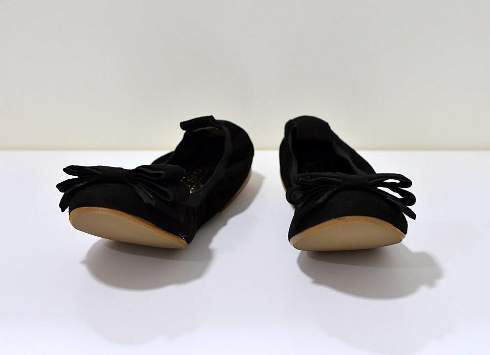 Gianluca Pisati Ballerinas aus Wildleder mit flexiberl Sohle in schwarz