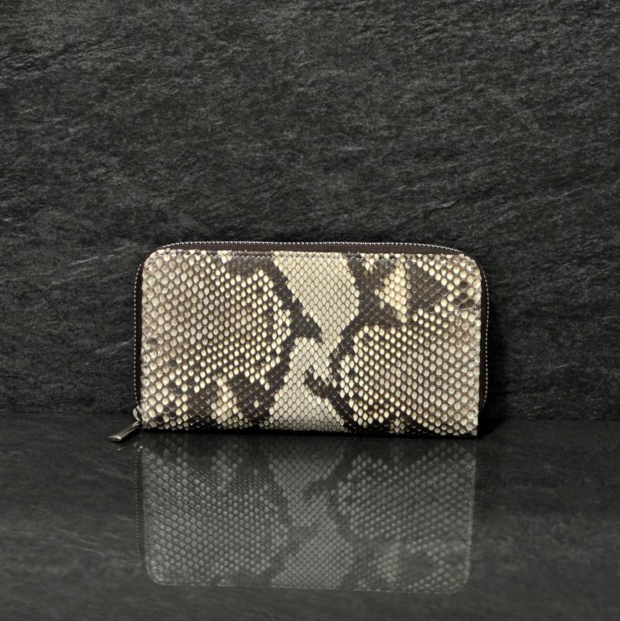 Fausto Colato große Geldbörse / Portemonnaie aus Python-Schlangenleder