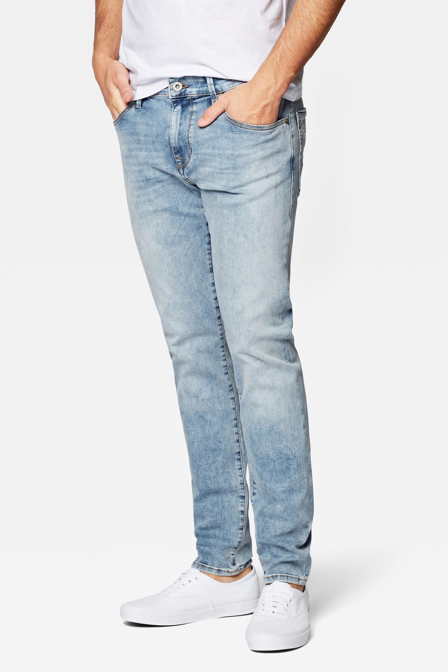 Mavi  James super skinny Jeans mit  niedriegen Leibhöhe Blau Bleched