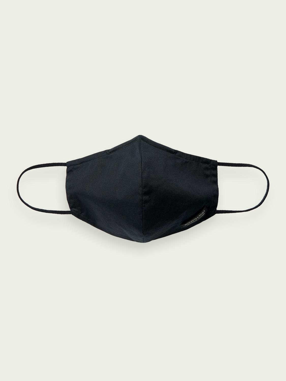 Scotch&Soda  Wiederverwendbarer Mundschutz für Herren Maske in schwarz mit Logo und Beutel
