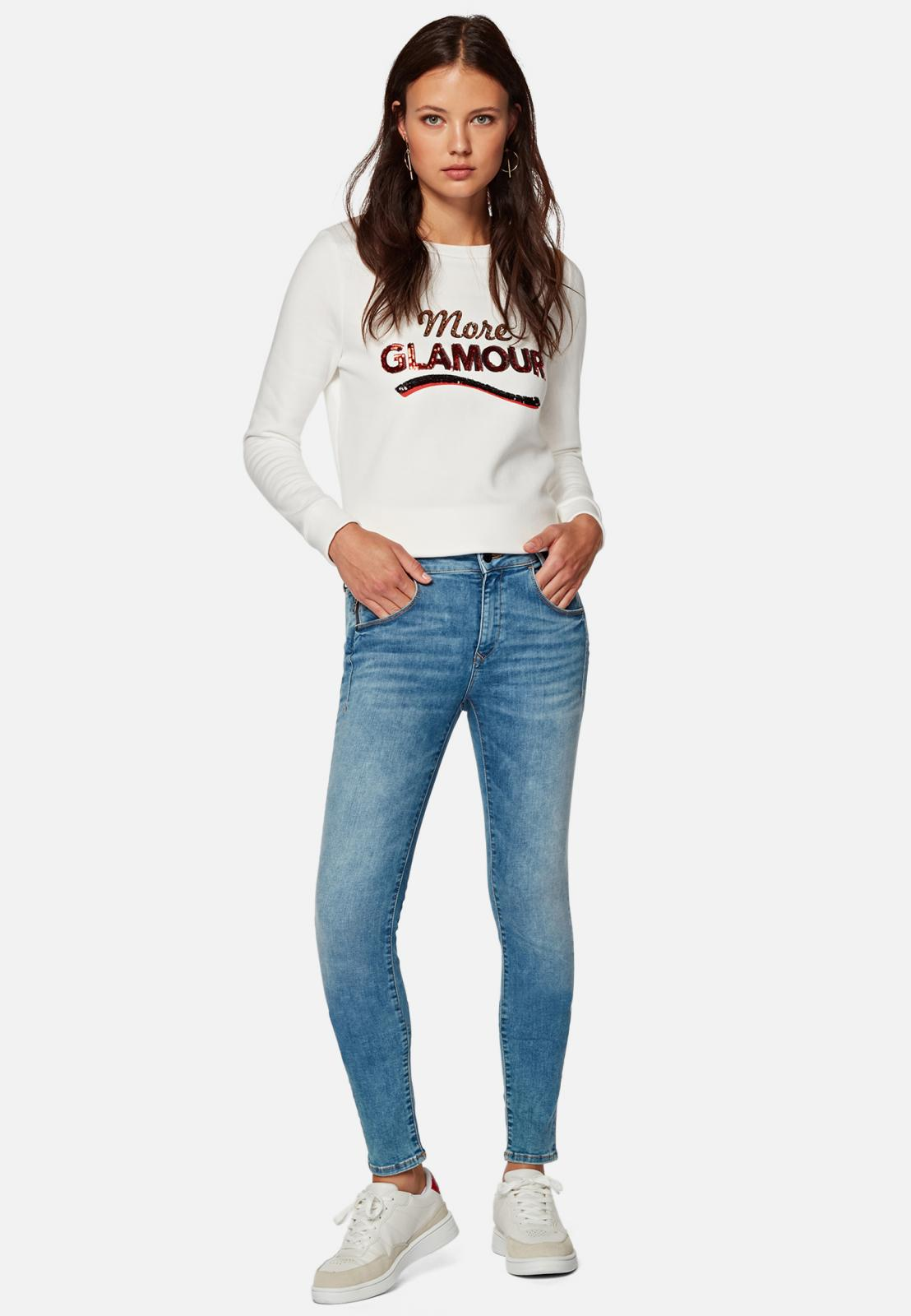 ADRIANA | Super Skinny Jeans LT Glam  in hellblau