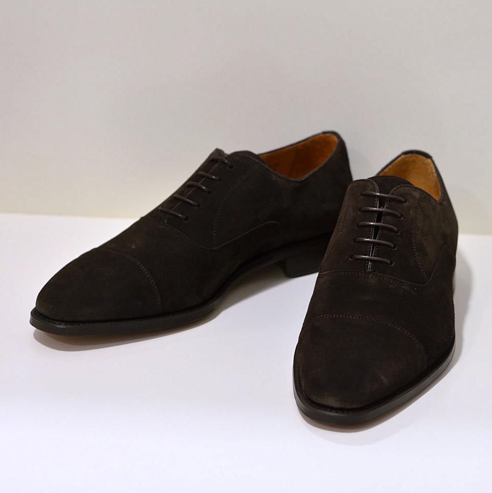 Berwick Rahmengenähter Oxford Schuh in dunkelbraunen Wildleder