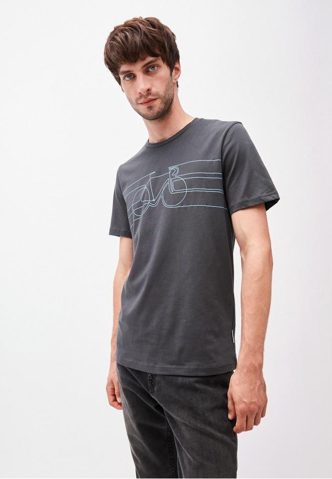 Armedangels  JAAMES SMOOTH BIKE T-Shirt aus Bio-Baumwolle acid black
