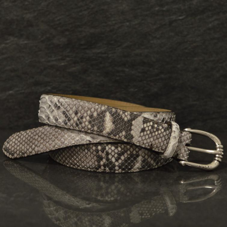 Fausto Colato Schlangenleder-Gürtel Python Breite 3,0cm Naturbelassen