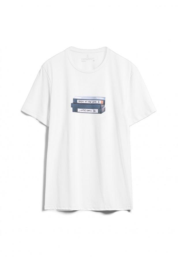 Armedangels  JAAMES VHS T-Shirt aus Bio-Baumwolle weiss