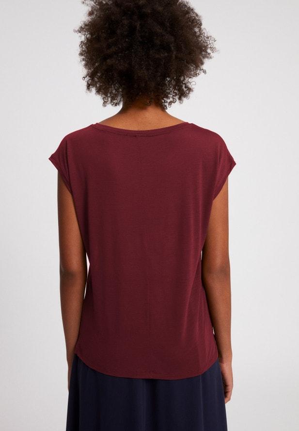 Armedangels  JILAA T-Shirt aus TENCEL™ Lyocell Mix ruby red