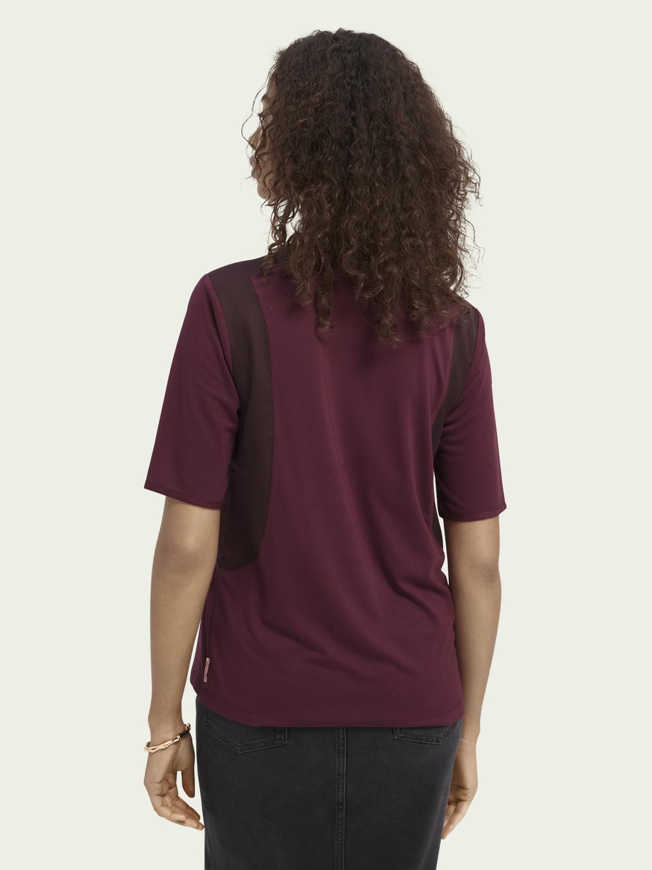 Scotch&Soda Bluse aus Webstoff und kontrastierende Farbverläufe
