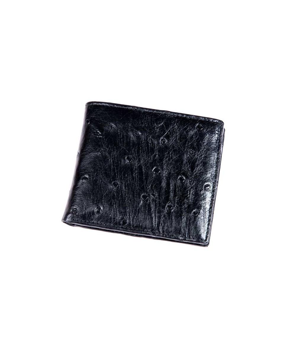 Possum Geldbörse aus feinstem Straußenleder American double Card Holder