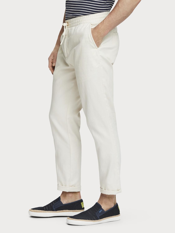 Scotch&Soda Warren – Hose aus Baumwolle und Leinen Regular Straight Fit