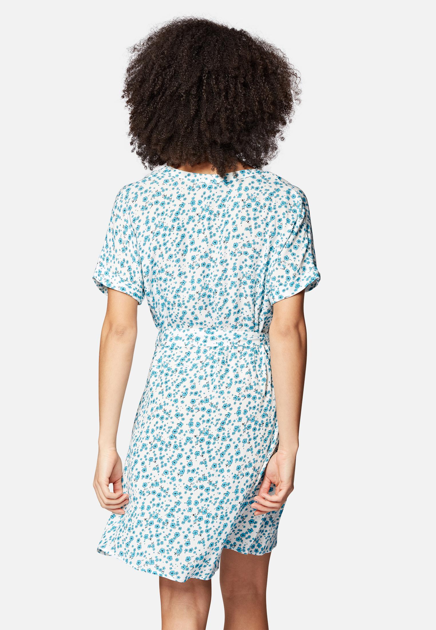 Mavi Kurzes Kleid mit Blumenmuster in blau