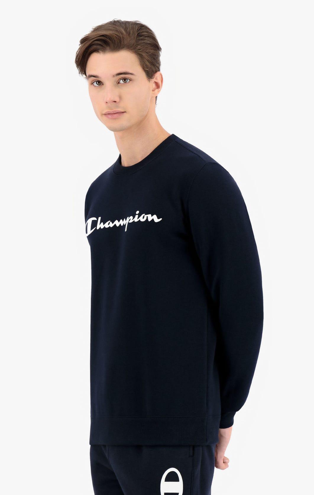 Champion Sweatshirt aus Baumwollfrottee mit Printlogo-Schriftzug