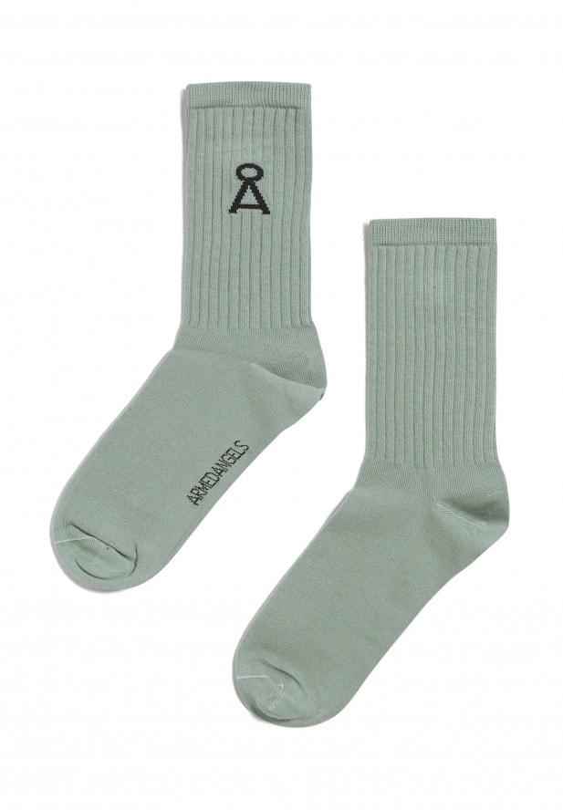 Armedangels SAAMU Socken aus Bio-Baumwoll Mix sage green