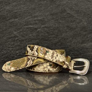 Reptile´s House Schlangenleder-Gürtel Python Breite 3,5 cm Handbemalt