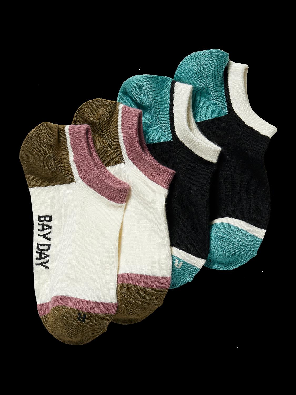 Scotch&Soda Bedruckte  Sneaker Socken aus Bambusmischung im 2er-Pack