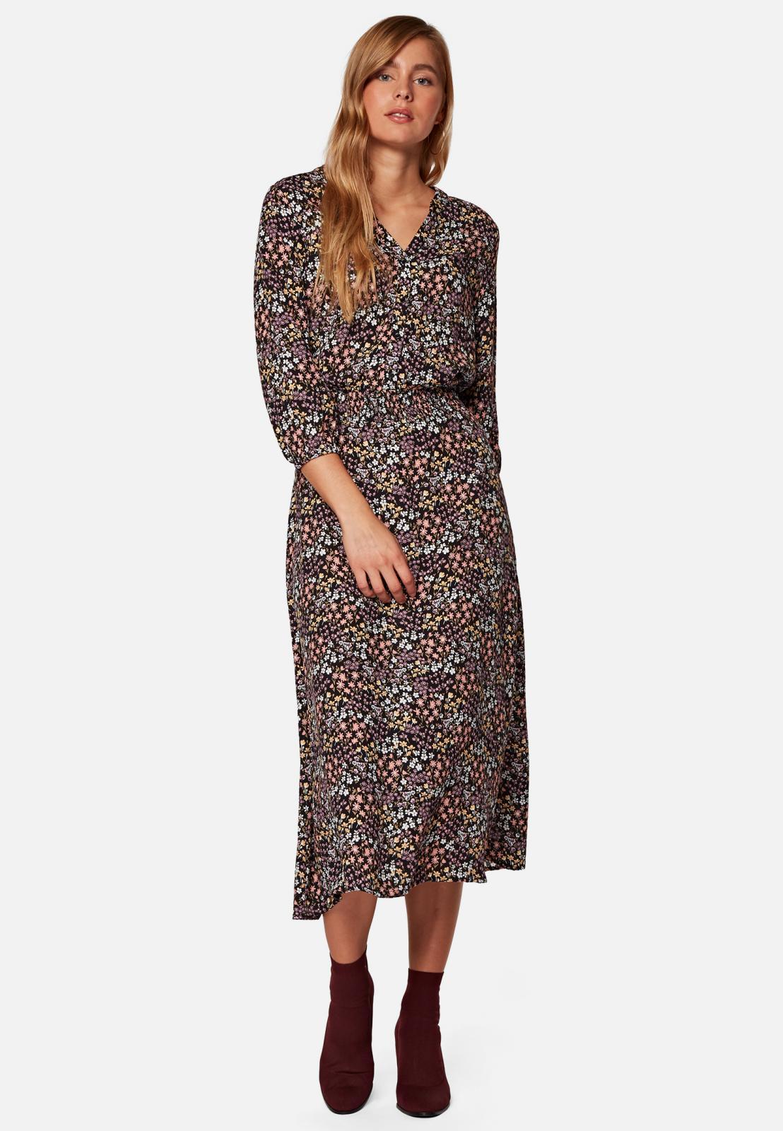 Mavi KLEID | Midi-Kleid mit Blumenmuster aus Viscose