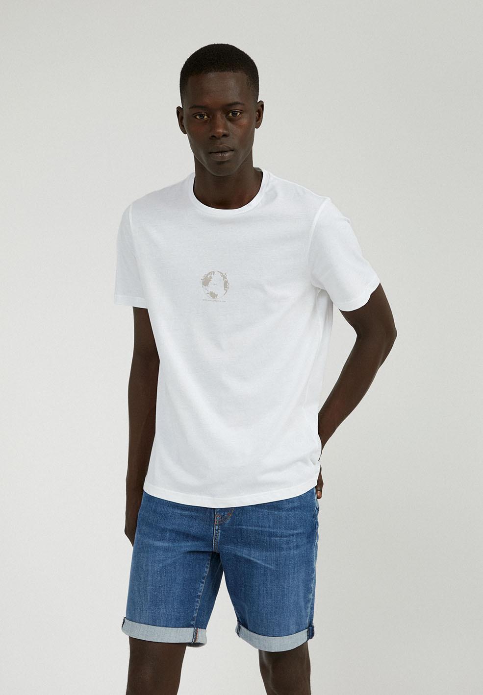 Armedangels  JAAMES TRIBUTE T-Shirt aus Bio-Baumwolle weiss