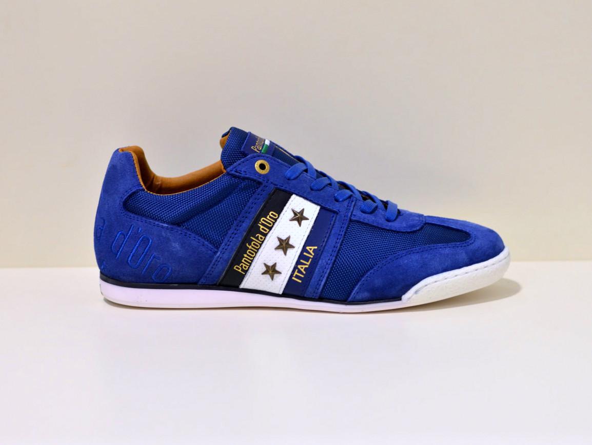 Pantofola d´Oro Sneaker aus Leder  und Canvas Imola blau
