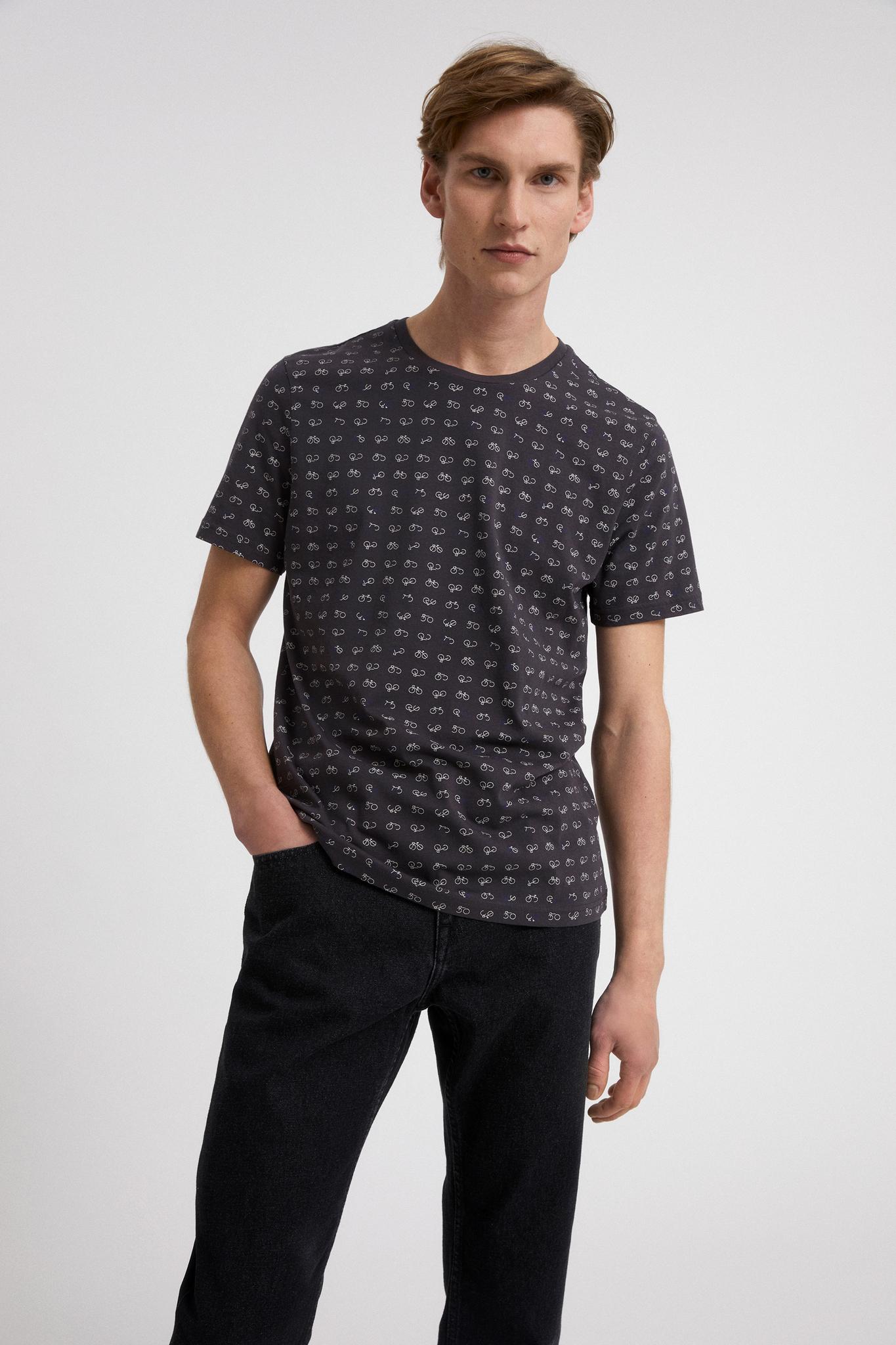 Armedangels  JAAMES AOP BIKES T-Shirt aus Bio-Baumwolle