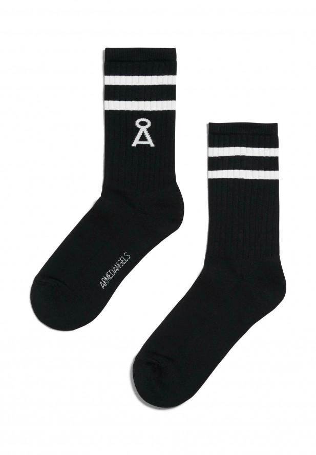 Armedangels SAAMU STRIPES Socken aus Bio-Baumwoll Mix black-snow white
