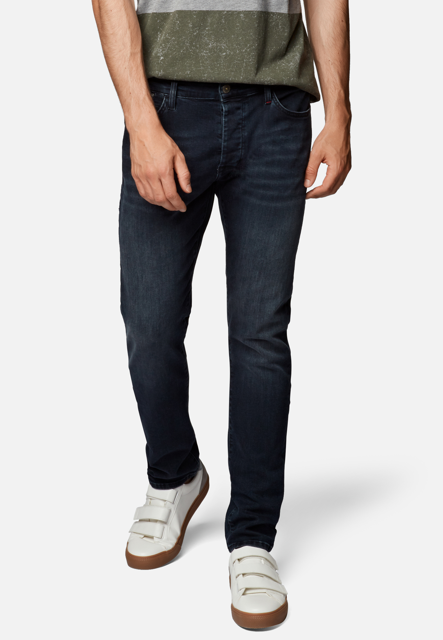 Mavi Yves Jeans Skinny Dunkelblau Brushed  mit Strech