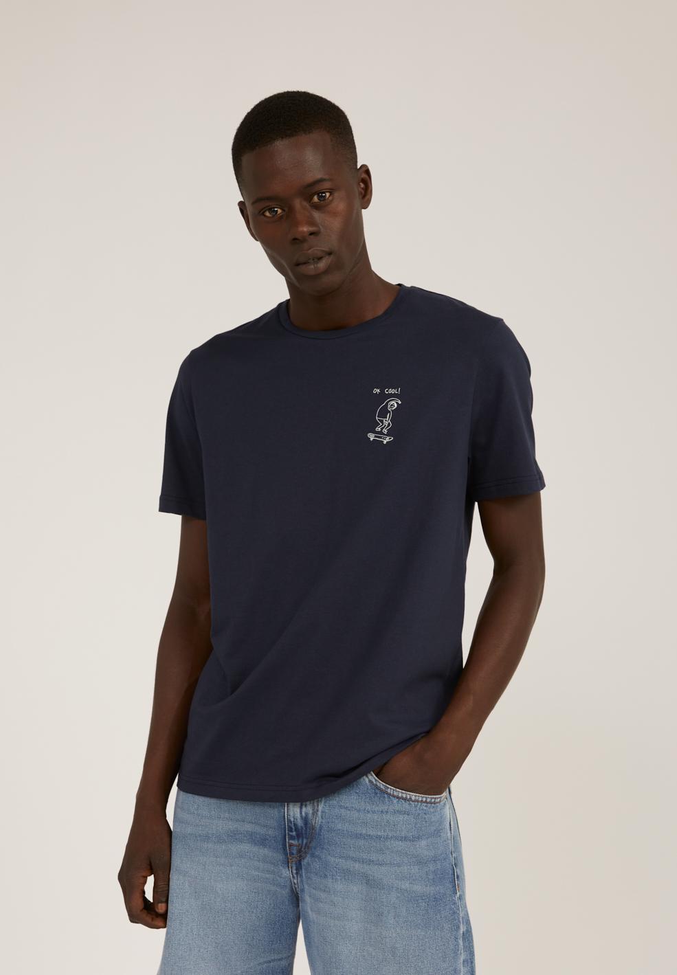 Armedangels  JAAMES OK COOL T-Shirt aus Bio-Baumwolle navy
