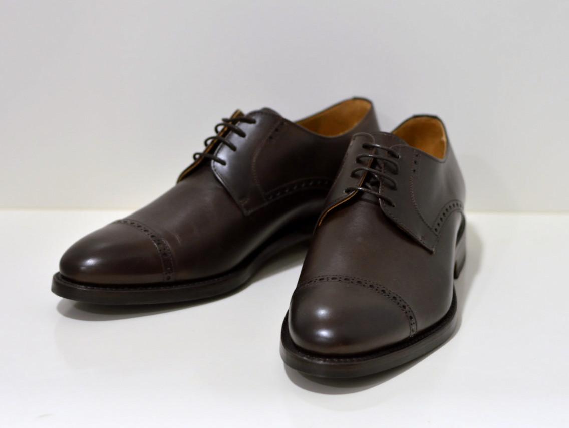 Berwick Rahmengenähter Derby Schuh mit verziehter Quernaht