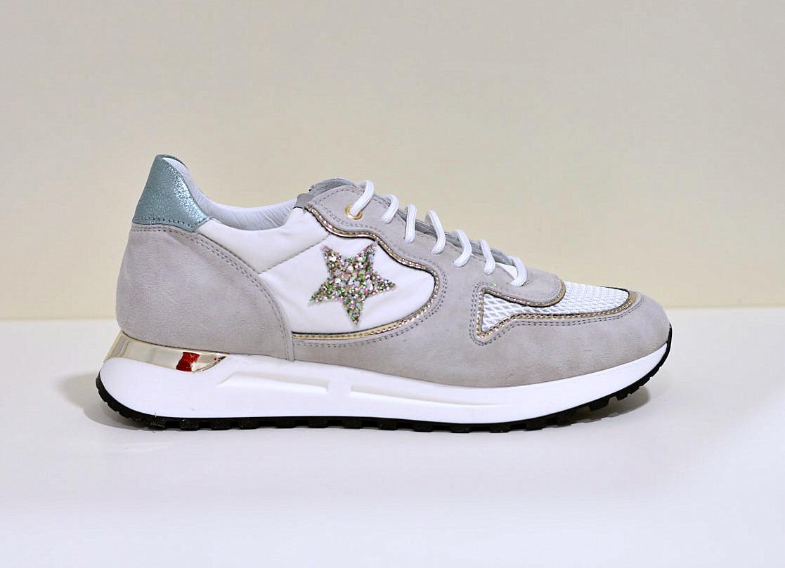 Noclaim LOGAN - Damen Sneaker low beige/glitter prato