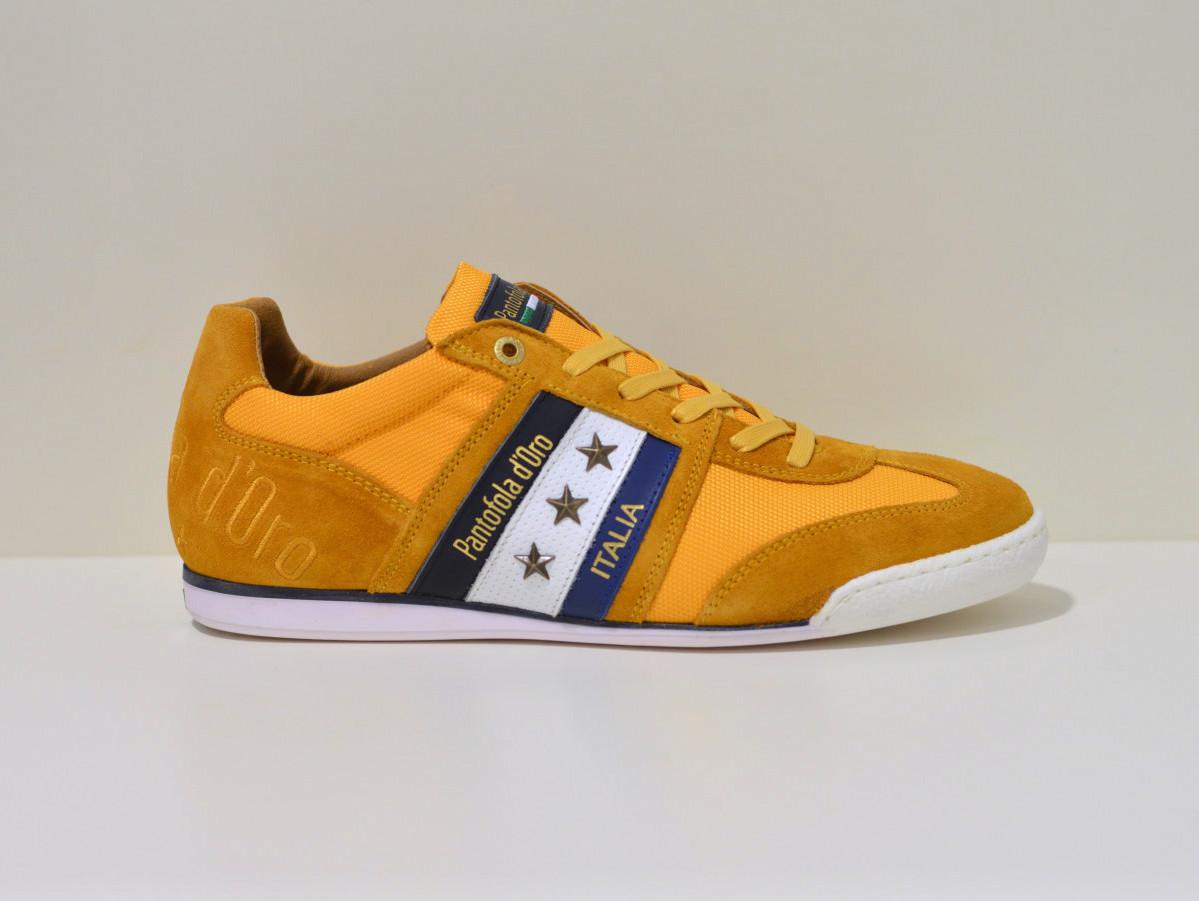 Pantofola d´Oro Sneaker aus Leder und Canvas  Imola  curry