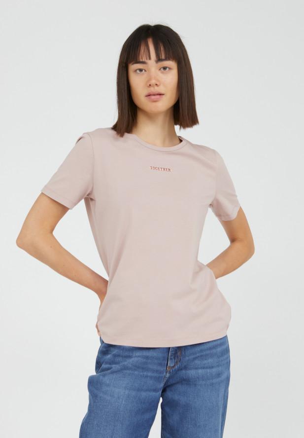 Armedangels  MARAA STATEMENT STROKE Together T-Shirt aus Bio-Baumwolle