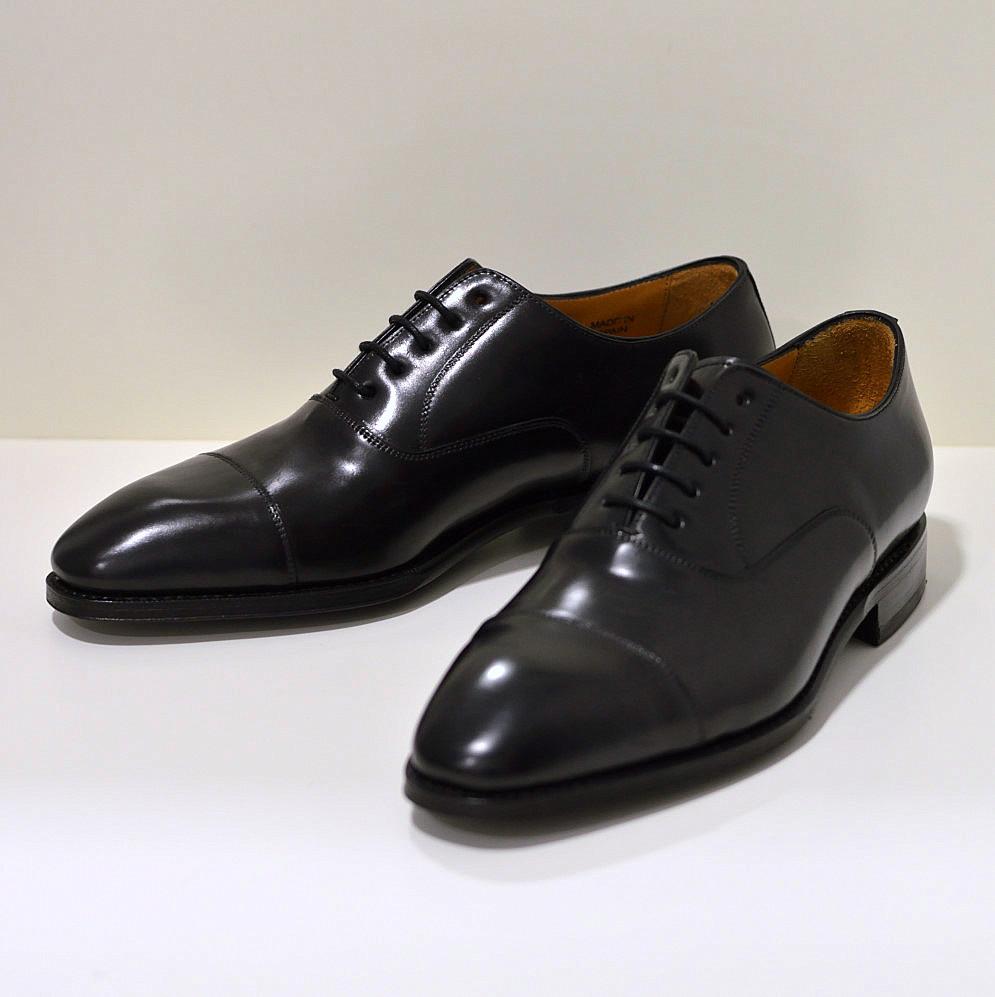 Berwick Oxford Businessschuh aus Cordovan-Leder / Pferdeleder , schwarz 5217