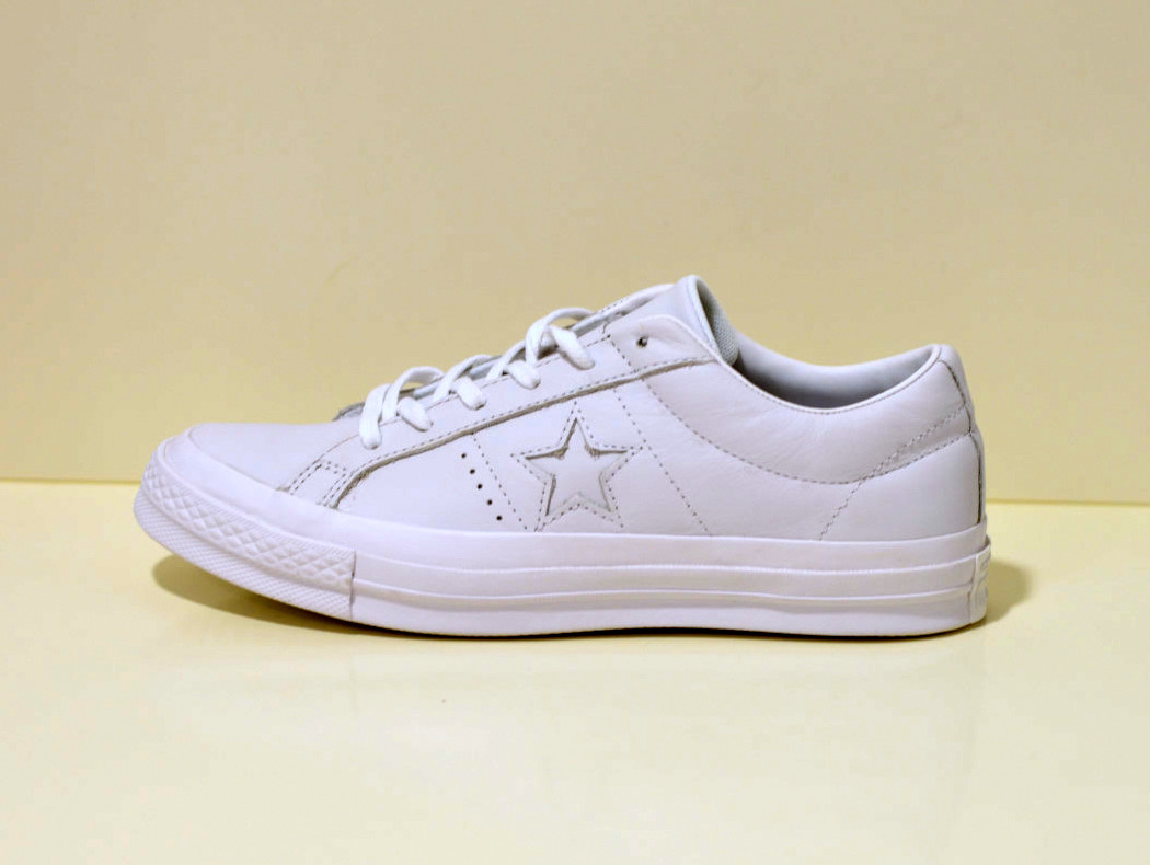 CONVERSE ONE STAR Leather OX - Sneaker  - weiß mono