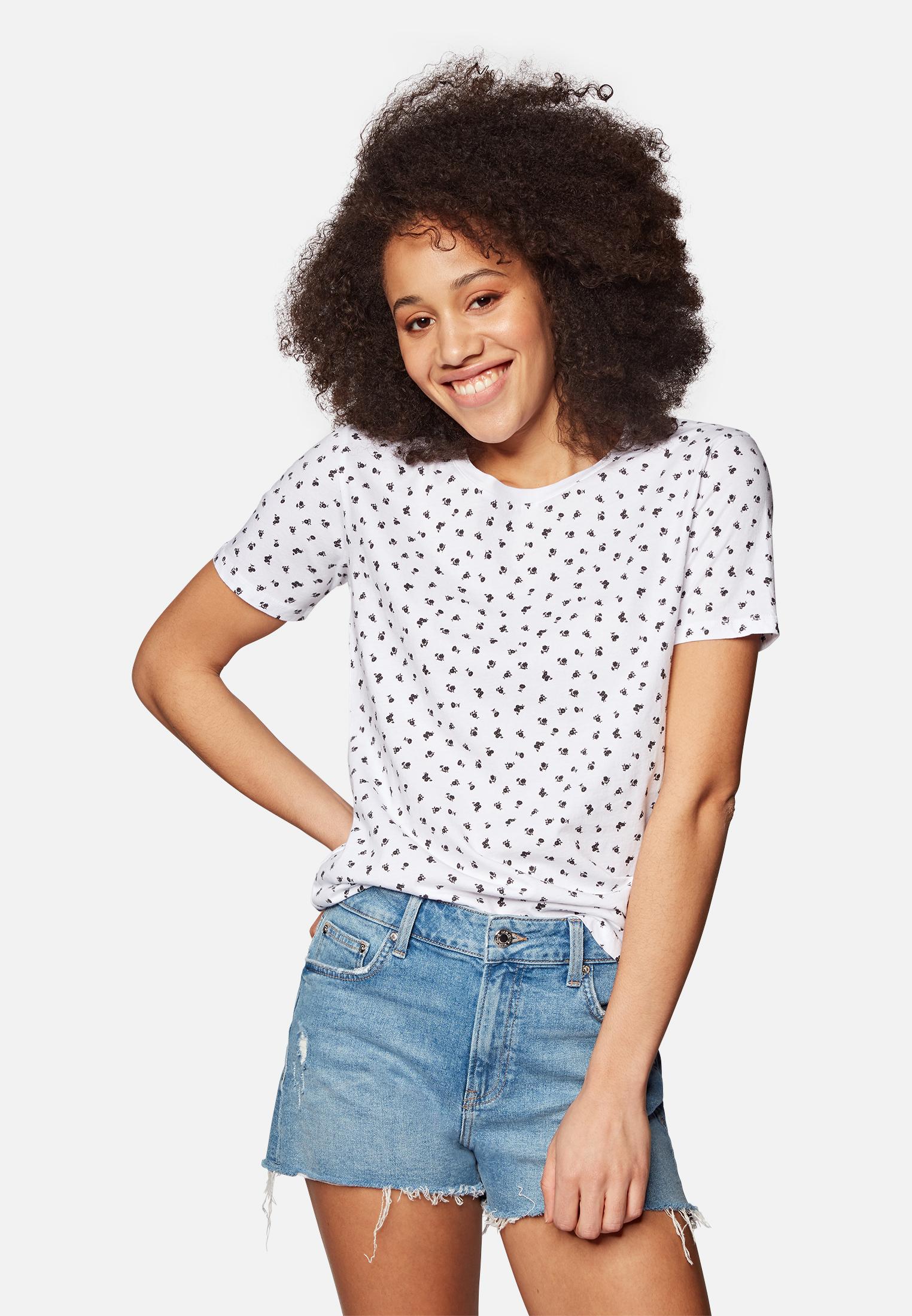Mavi T-SHIRT | T-Shirt mit Allover-Print Blumen in weiß