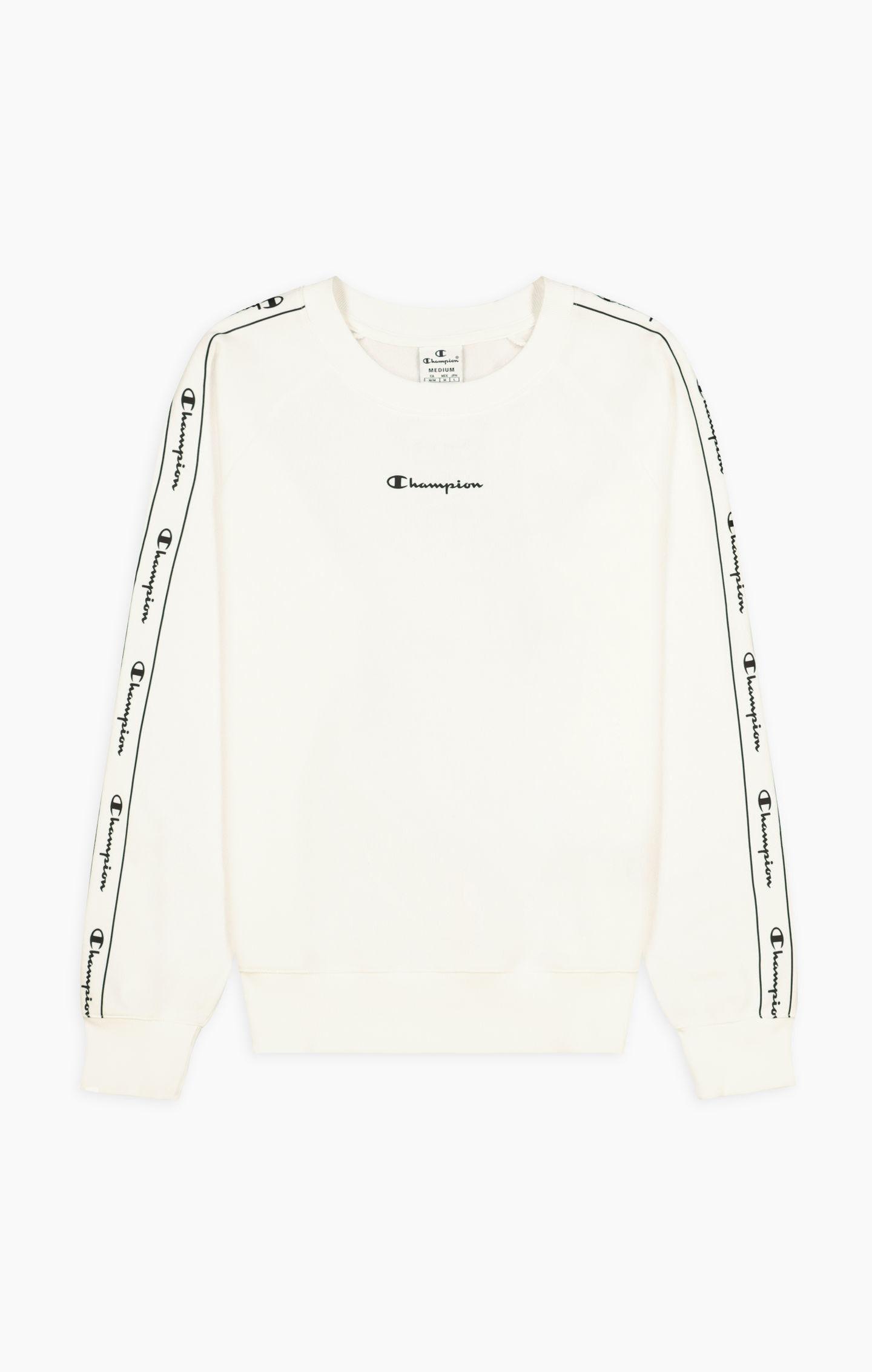 Champion Sweatshirt mit kontrastierender Logopaspel in weiss