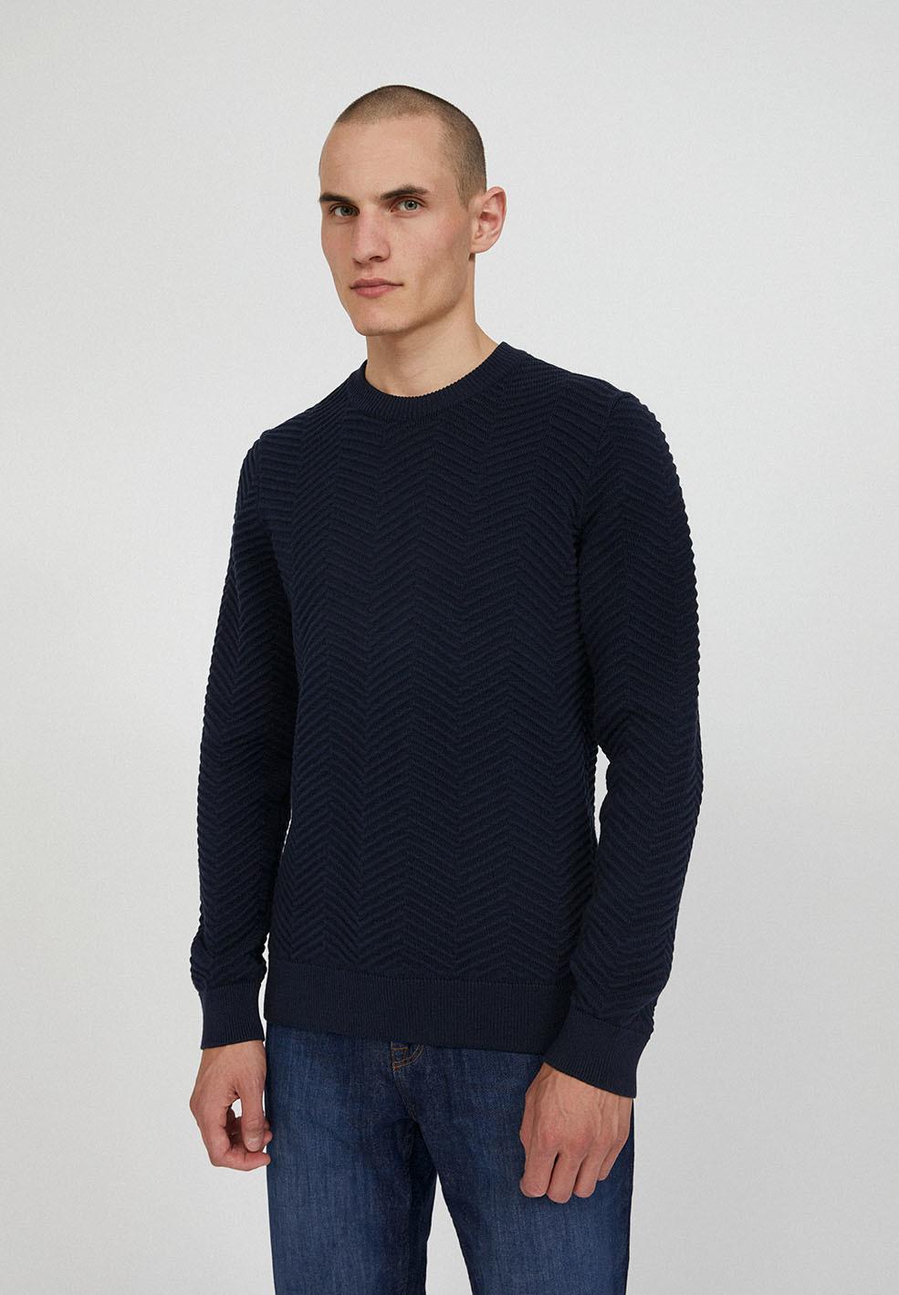 Armedangels Pullover aus Bio-Baumwolle Modell 'Heringaa' - Marineblau