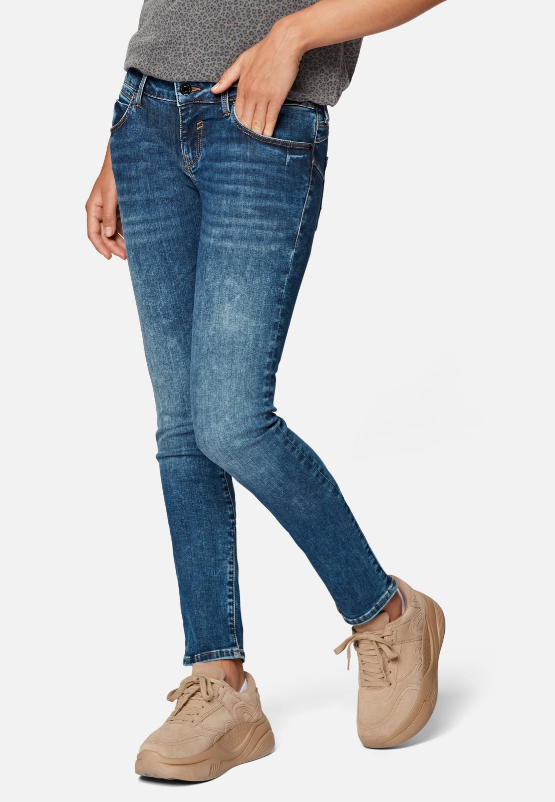 Mavi Lindy Low Rise Skinny Jeans in Dakr Brushed Glam
