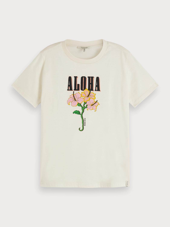 Scotch & Soda  T-Shirt mit Artwork-Print