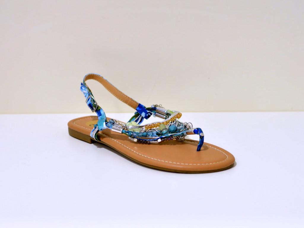 Buffalo Riemchen Sandale mit Strassapplikation