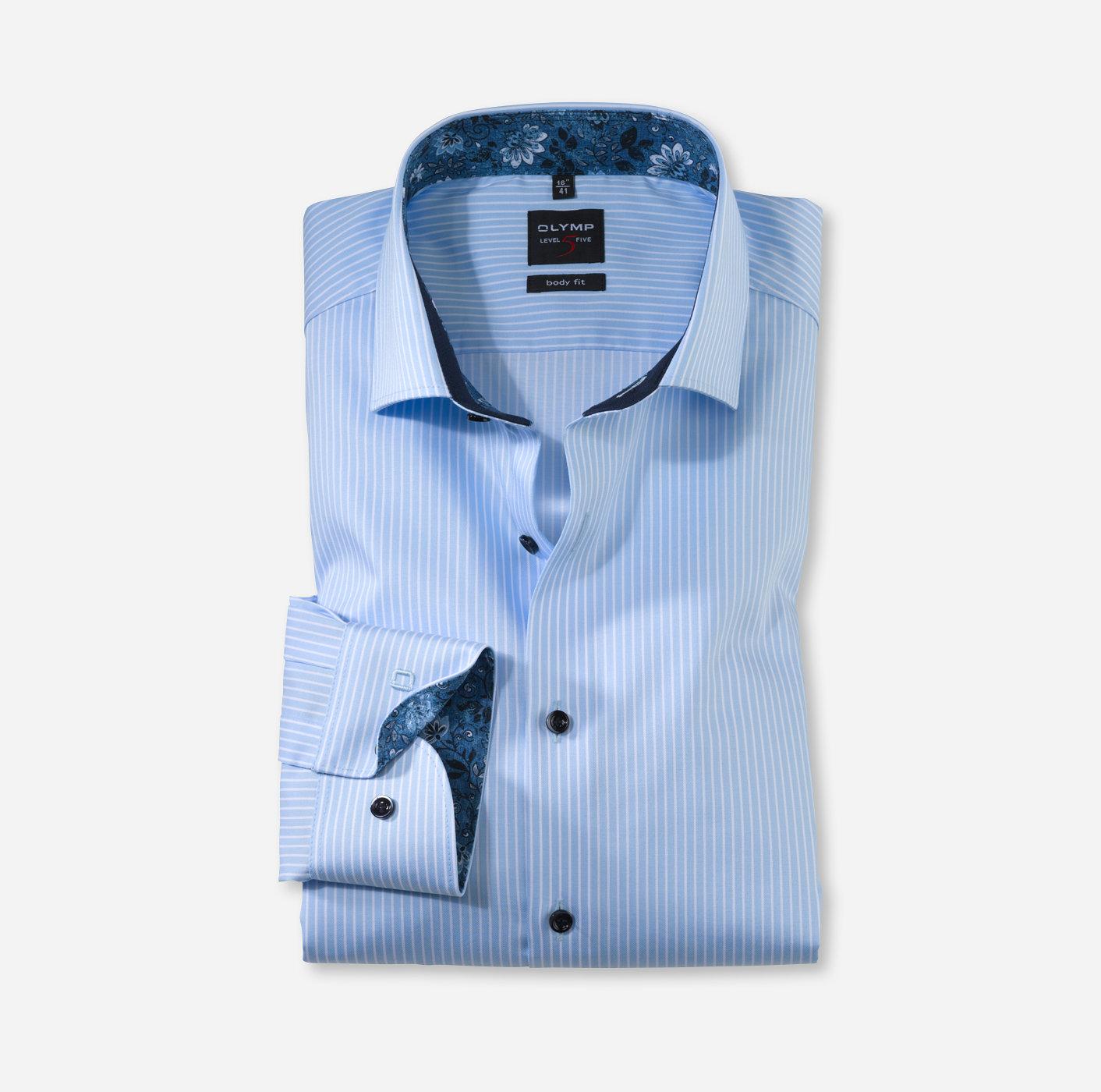 OLYMP Level Five body fit, Businesshemd, Royal Kent, Bleu 21647411