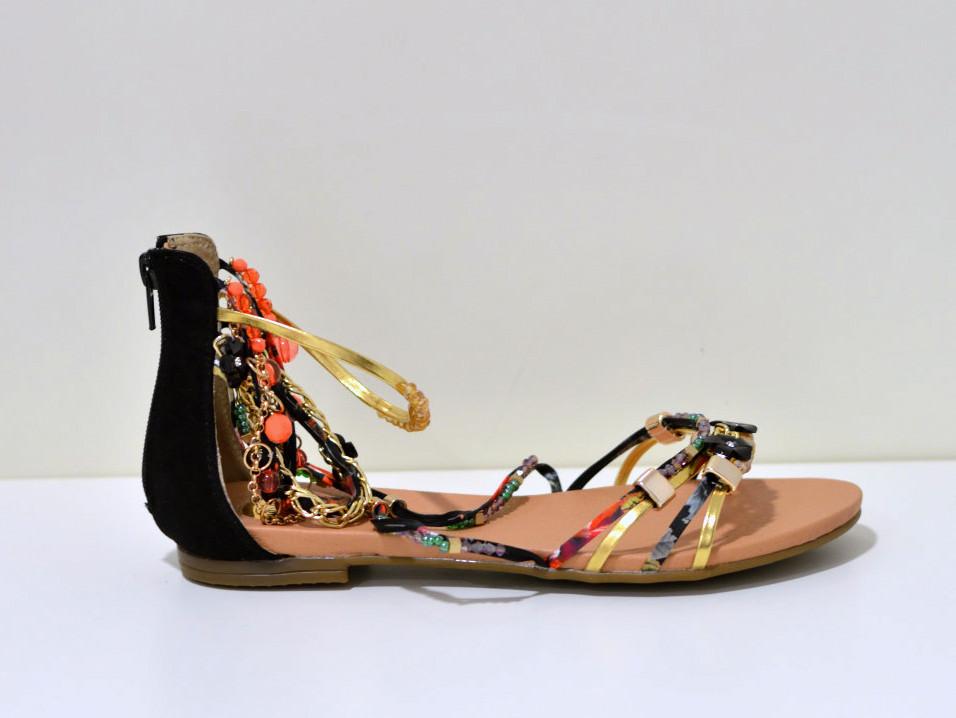 Buffalo Sommer Sandale mit Strassapplikation