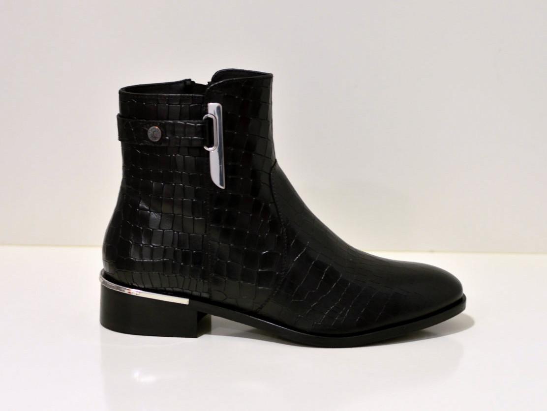 Copenhagen Shoes Allisa - Stiefelette - Crocco black
