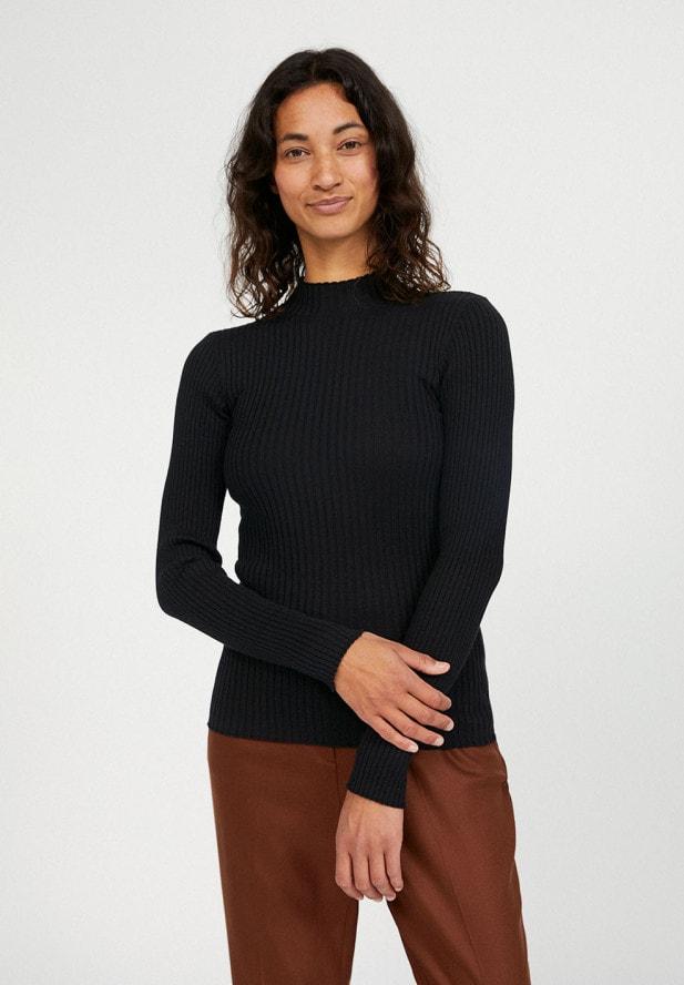 Armedangels ALAANI  Pullover aus Bio-Baumwolle in schwarz