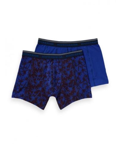 Scotch & Soda Boxershorts 2-er Pack Unterhosen 148566-19 blau Palmen