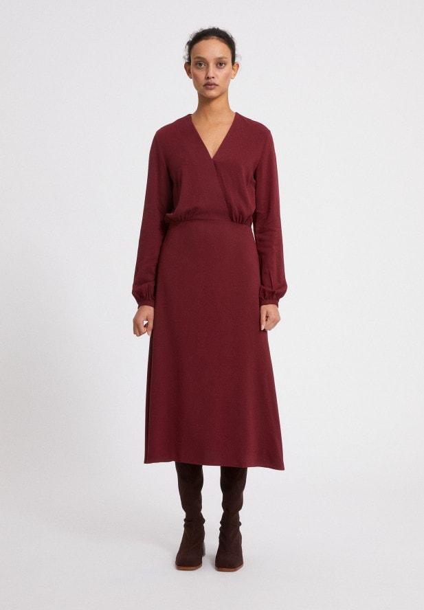 Armedangels ALEIXAA RUBY RED Kleid aus LENZING™ ECOVERO™