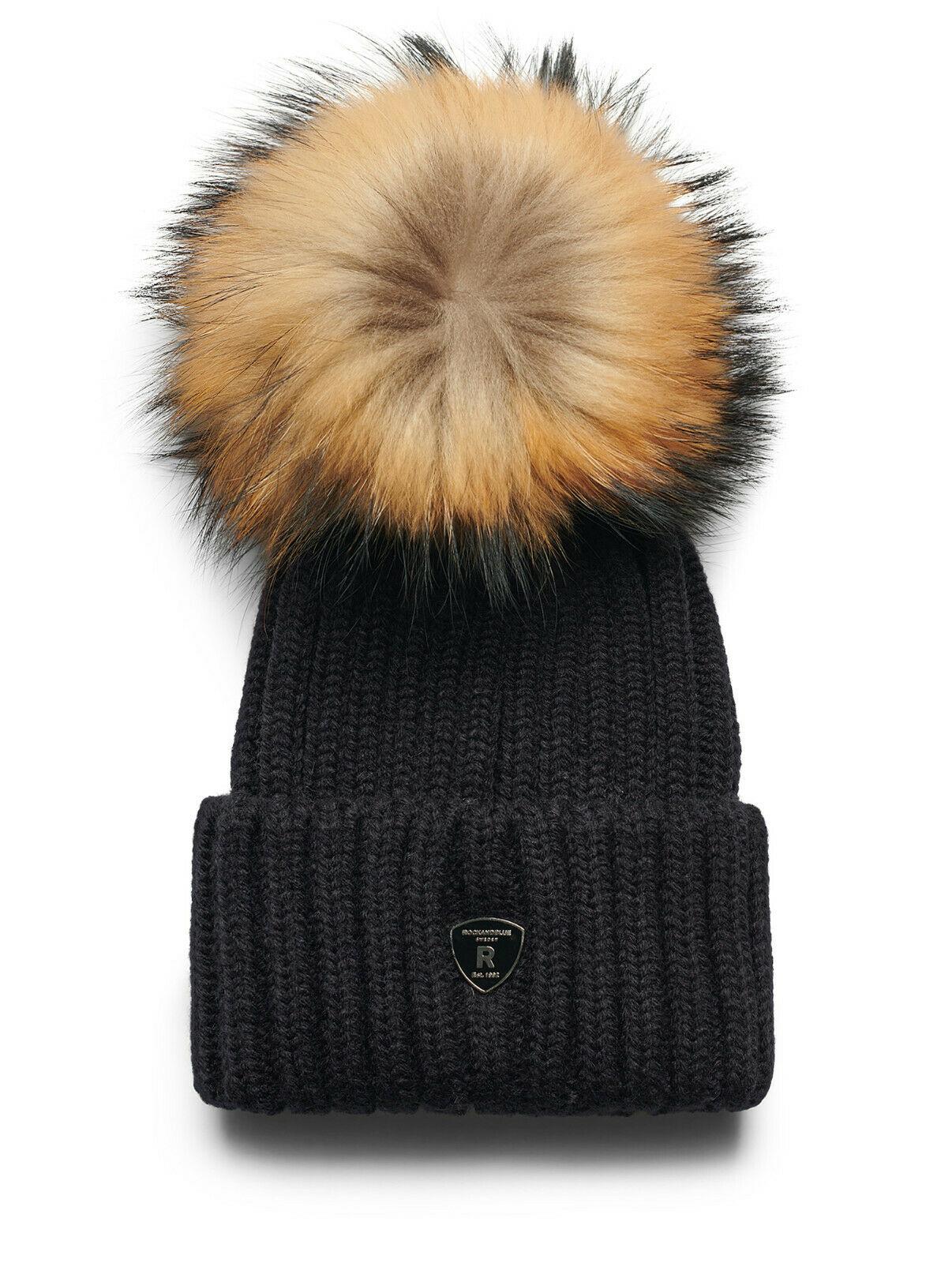 RockandBlue Mütze mit großem echt Pelz Bommel passend für Zora Beam und Ciara
