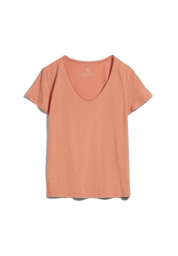 Armedangels   HAADIA T-Shirt aus Bio-Baumwolle burned mandarin