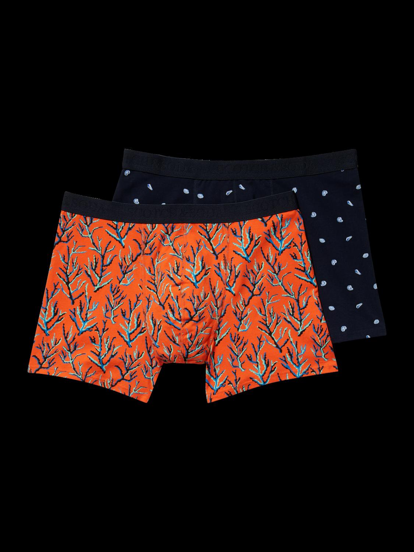 Scotch&Soda Klassische Boxershorts – 2er-Pack Korallen und kleinen Muscheln