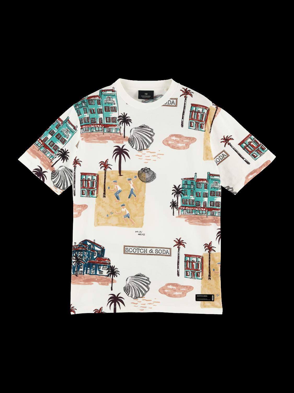 Scotch&Soda T-Shirt mit Rundhalsausschnitt und Print