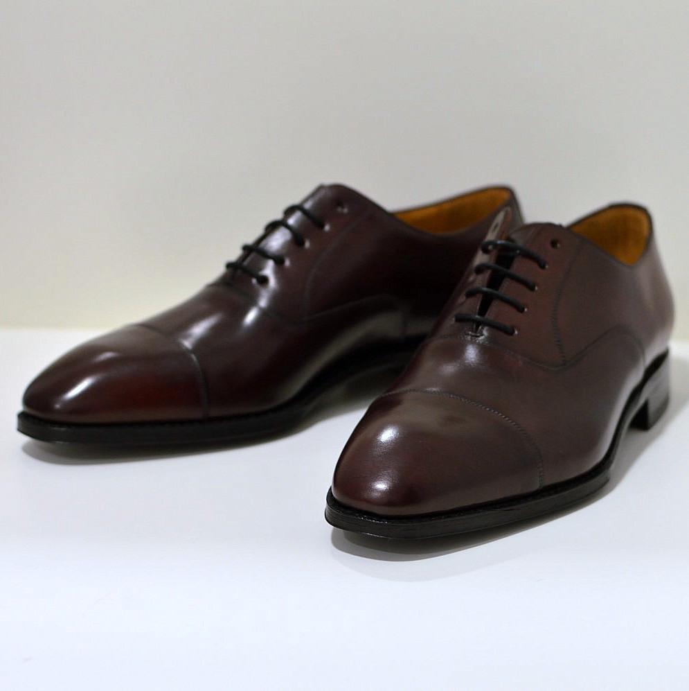 Berwick Oxford Businessschuh aus Cordovan-Leder / Pferdeleder , braun mit rotstich 5217
