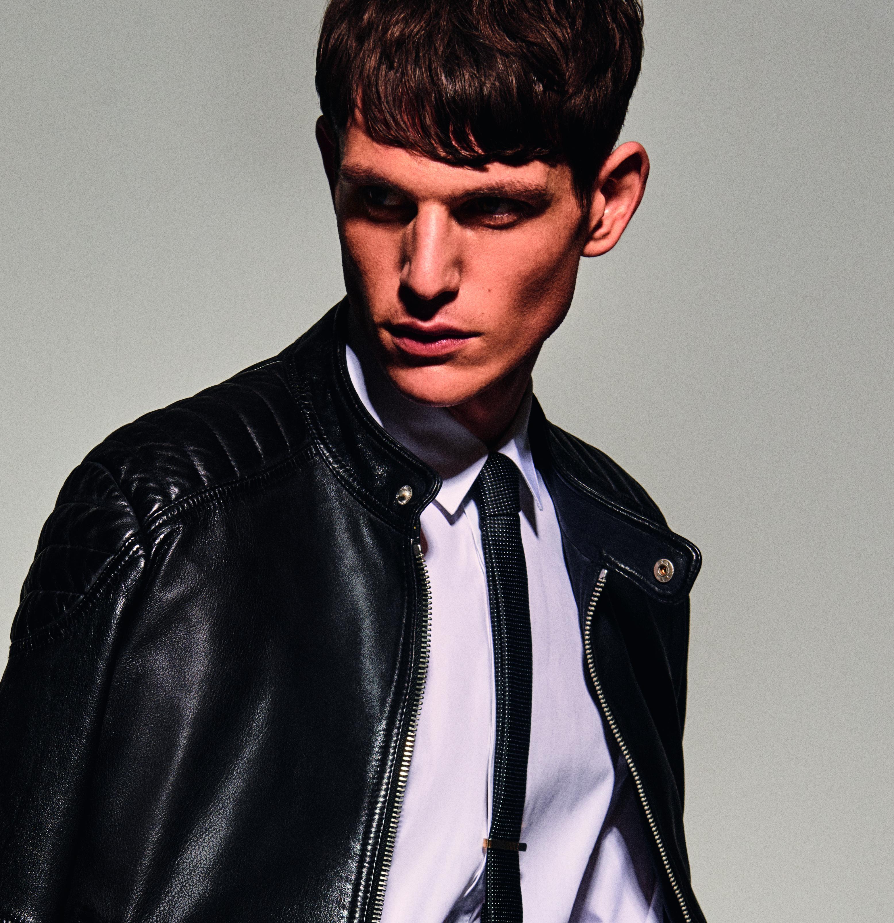 Antony Morato Biker-Jacke aus weichem einfarbigem Leder