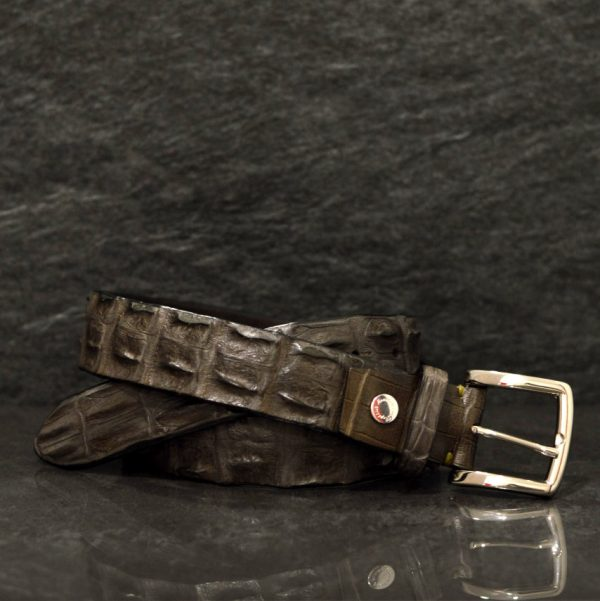 Reptile's House Krokodilleder-Gürtel Coccodrillo Breite 3,5 cm Fango